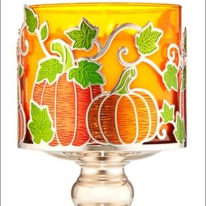 🎃 Pumpkin patch three wick candle holder
